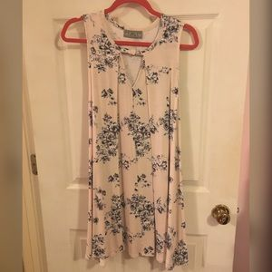 Baby Pink Dress with Floral Pattern